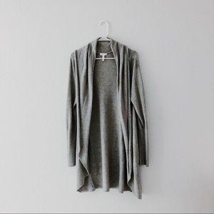 Cozy grey knit cardigan